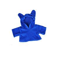 Korvallinen fleecehuppari sinisenä, 40 cm, Teddy Mountain