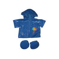 Sininen sadetakki ja tassunsuojat, 40 cm