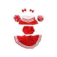 Punainen cheerleader-puku, 40 cm, Teddy Mountain
