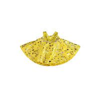 Kimalteleva keltainen mekko, 40 cm