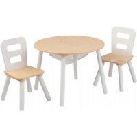 Varastohylly jossa on 2 tuolia (Kidkraft 270)