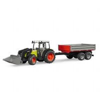Claas Nectis 267 F traktori peräkärryllä (Bruder 2112)
