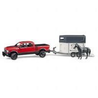 Dodge RAM 2500 lava-auto ja hevoskärry hevosella (Bruder 2501)