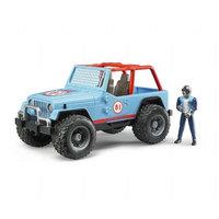 Jeep Cross Racer Wrangler ja figuuri (Bruder 2541)