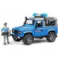 Defender Land Rover Poliisiauto ja figuuri (Bruder 02597)
