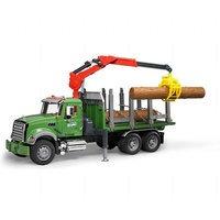 MACK Granite puutavara-auto tukeilla (Bruder 2824)