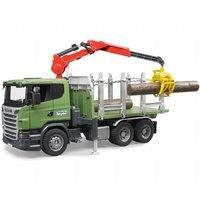 Scania tukkiauto ja lastauskurki (Bruder 3524)