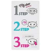Pig Clear Blackhead 3-Step Kit (No Water), Holika Holika K-Beauty: Mustapäälaput
