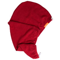 AQUIS Rapid Dry Lisse Hair Turban Ruby