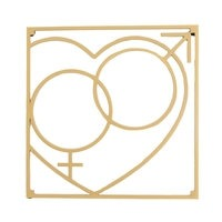 Love Collection QM Love Pannunalunen 18 x 18 cm Kulta