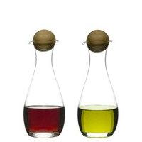 Öljy-/viinietikkapullot tammikorkit, 2-pack