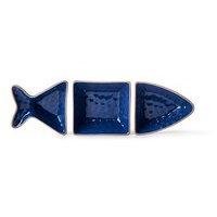 Fish tarjoilukulho 3 osaa, sininen, Sagaform