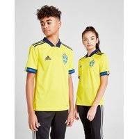 Adidas sweden 2020 home shirt junior - kids, keltainen, adidas