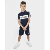 Adidas t-paita ja shortsit lapset - only at jd - kids, laivastonsininen, adidas