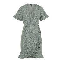Pilkullinen kietaisumallinen mekko, vero moda