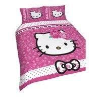 Hello Kitty Childrens Girls Sommerwind Reversible Duvet Cover Bedding Set