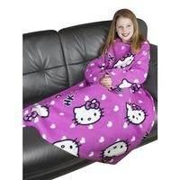 Childrens/Kids Girls Hello Kitty Sleeved Fleece Snuggle Blanket