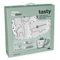 Done By Deer Toddler Dinner Set Happy Dots, Grey