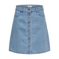 Button denim skirt, only