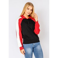 Tri-Color Arm Lightweight Hoodie In Black, Fiorellashop