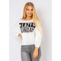 Lazy Sunday Crop Top In White, Fiorellashop
